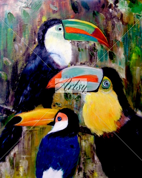 Three Toucans
