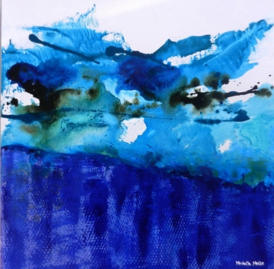 Blue Reflections - Abstract painting