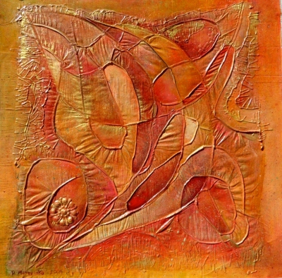 Abstract orange painting